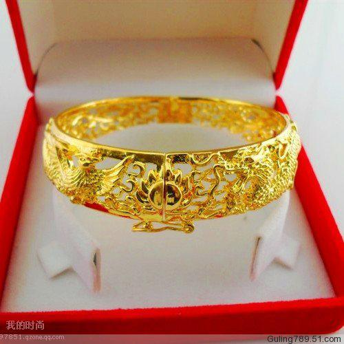7204be7fa9bec Boutique full 3 package tact gold plated bracelet gold shop with dragon and  phoenix brides almost lifelike models