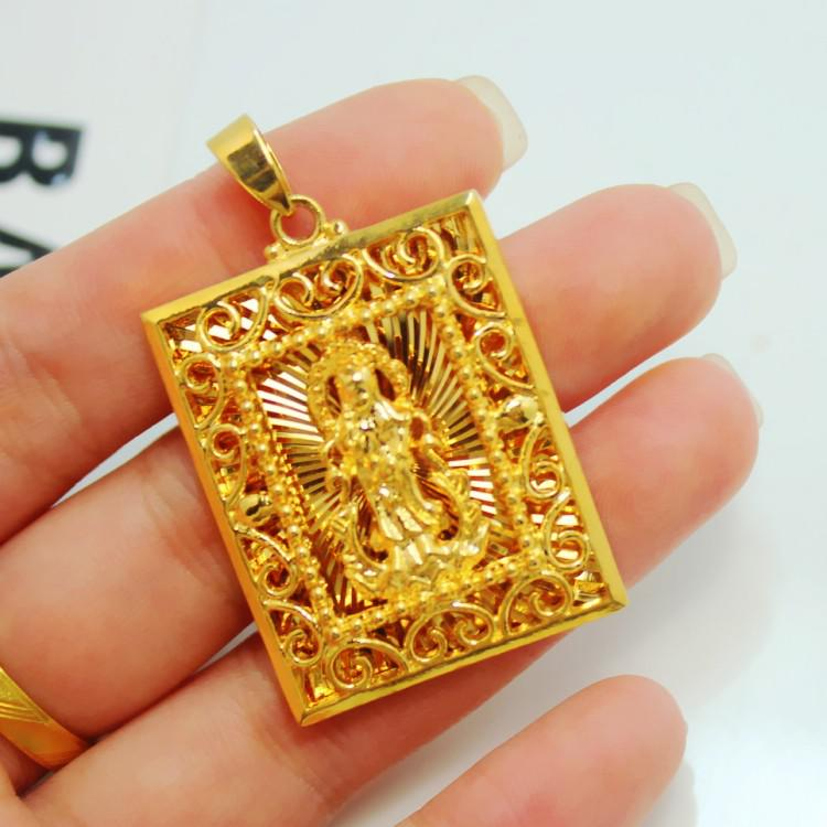 06d110a6d 2013 New Mens Guanyin Buddha eagle logo Long Guan Gong 5 opts plated gold  pendant