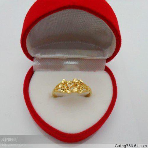 Ladies Wedding Rings Imitation Gold Plated Ring Vacuum Plating
