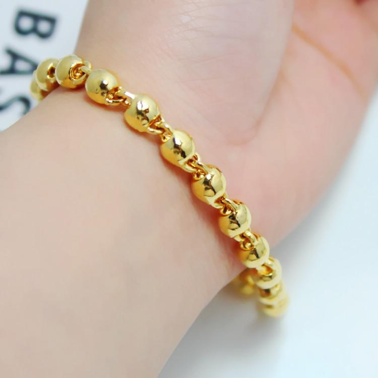 Men And Women Can Wear a Rosary Bead Bracelet Solid 24K ...