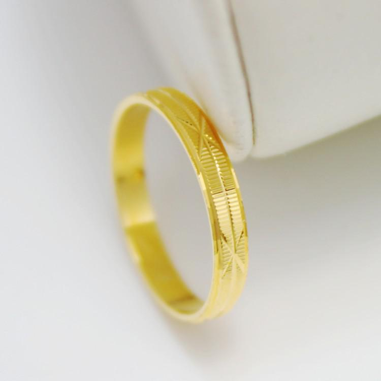 Simple Life Couple Rings Rings Gold Ring 24k Gold Plated Jewelry ...