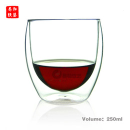 Wholesale Double Wall Heat Resistant Glasses - Double wall cup, tea cup ,coffee cup,wine glass,250ml,heat-resistant glass