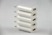 cep telefonları için güç kaynağı toptan satış-Yüksekliği kaliteli AB ABD Plug 1A AC Güç Kaynağı Duvar Şarj Adaptörü iphone 6,7, 8 artı cep telefonu için USB Şarj