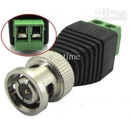 اقناع Cat5 إلى كاميرا CCTV BNC فيديو Balun موصل محول محول 100pcs / Lot اكسبريس حرية الملاحة