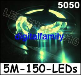 Wholesale Green Led Reel - 1 Reel 5M Warm White LED No Waterproof Flexible Strip 150 LEDs 500CM 5050 SMD