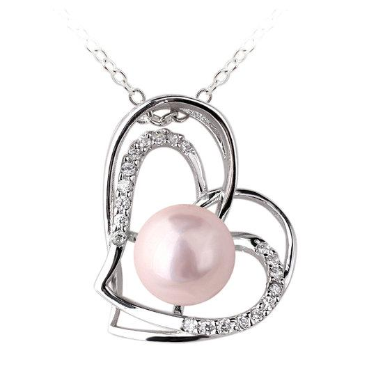 Wholesale cute lady pink pearl heart shape line authentic sterling wholesale cute lady pink pearl heart shape line authentic sterling silver 925 pendant necklace prl p056 gold name necklace mens gold chains from timejewel aloadofball Choice Image