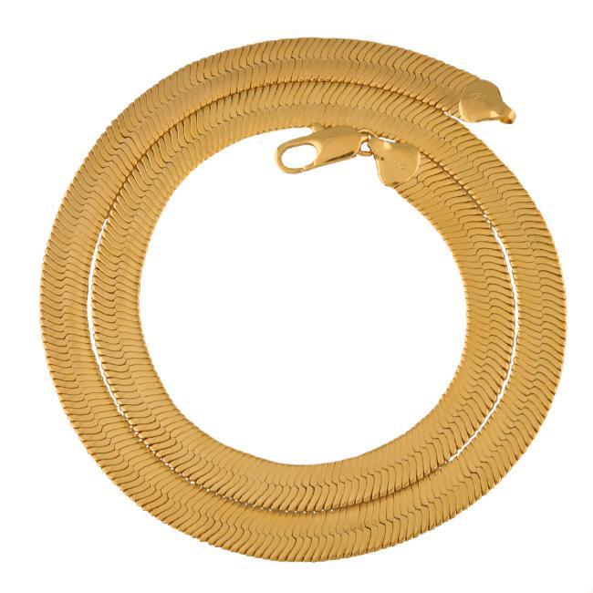 138N Cuivre De Mode Environnemental pas allergique Collier Hommes Serpent 24K 60cm