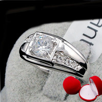 2013 fashion men Ring with heart box, Swarovski crystal 18k ...