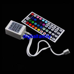 Wireless Controller Battery Canada - Hot sale 44 Key IR Remote Controller Wireless for RGB SMD LED Light Strips New