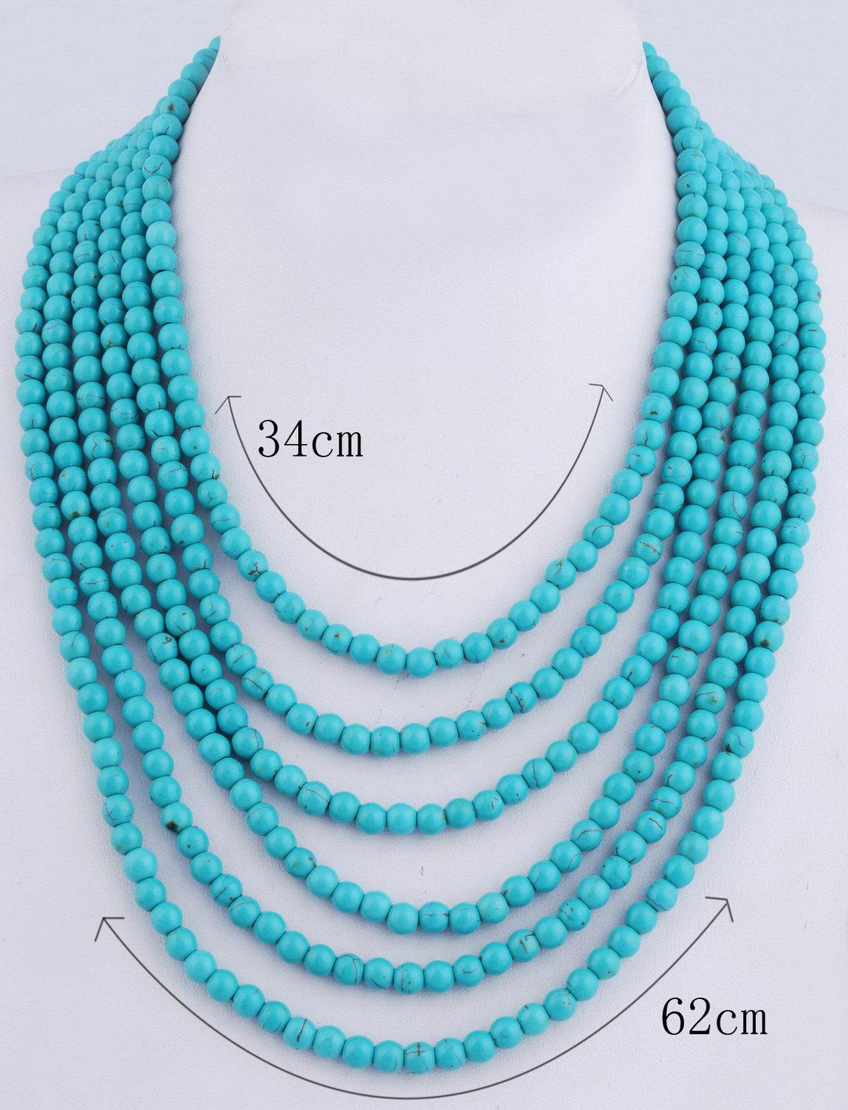 product opulenza triple turquoise designs necklace img