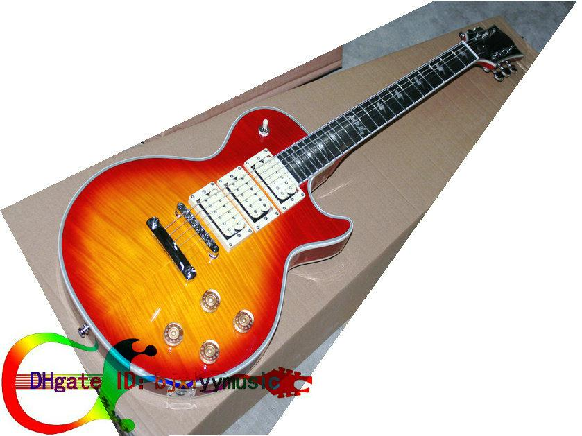 custom shop ace frehley electric guitar in cherry burst. Black Bedroom Furniture Sets. Home Design Ideas