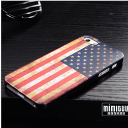 Wholesale Iphone5 Flags Cases - Wholesale - Retro Country Flag Case Hard Back Cover Shell Case for iPhone5 iphone 5 Cell phone Cases 100pcs lot