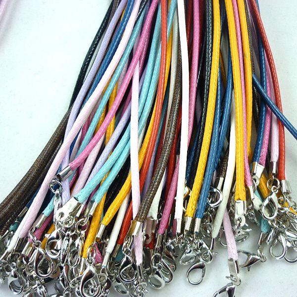 couleurs mélangées bricolage coréen cire cordon collier en cuir cordon 2mm bijoux accessoires conclusions résultats LIVRAISON GRATUITE