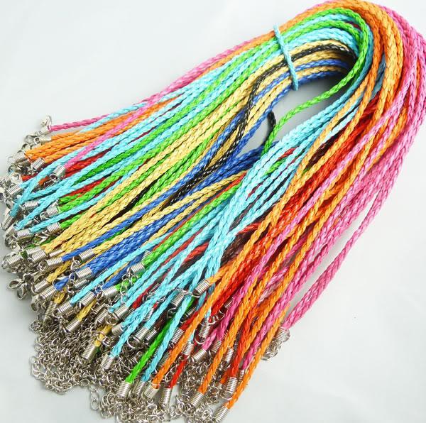 complect de cuero cuerda del collar de la joyería DIY mixta nueva nave libre de