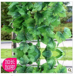 Wholesale Wholesale Fake Grapes - Wholesale - Simulation flower vine string big fake flower vine leaves grape leaves 3.3M  1piece 60 leaf 20pcs 1lot