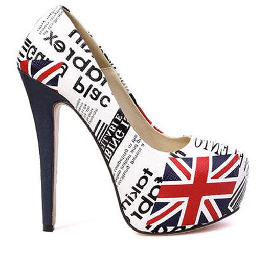 2013 New Fashion Round Closed Toe Uk National Flag Pattern ...