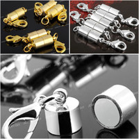 Wholesale Necklace Connector Clasp - Strong Magnetic Clasps Jewelry Necklace Findings Buckles Connector GOLD & SILVER