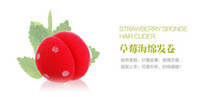 Wholesale Strawberry Rollers - 100pcs lot Hair Curler LOVELY Strawberry Balls Soft Sponge Hair Curler Rollers