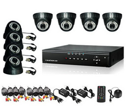 security system hdd Coupons - 8CH H.264 Surveillance DVR 8PCS DOME Day Night Security Camera CCTV System with 500GB HDD H030