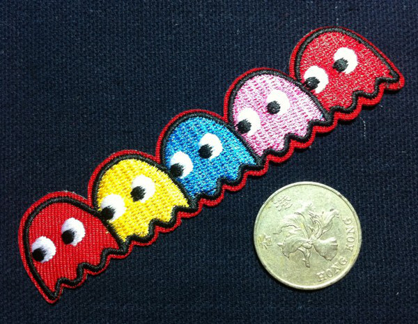 best selling Wholesales 10 Pieces~Game Man (2 x 10 cm) Embroidered Iron On Applique Patch Punk Patch