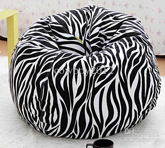 2018 Zebra Design Round Bean Bag Chair Indoor And Outdoor