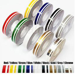 Wholesale Tape For Material - 400 pcs lot Wholesale 12mm Pin Stripe Tape Streamline Decals Stickers for Car