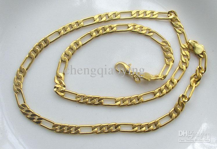 2020 Brand New Fashion 18 1 Inch 18k Gold Plated 3 1 Design Mens Necklace Chain Jewellery From Chengqiaoying 3 45 Dhgate Com