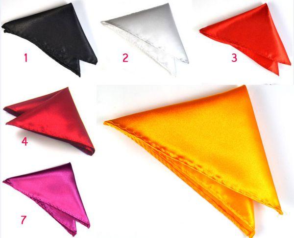 Formal Wear Men handkerchief Pocket Square Handkerchief Hanky Napkin Cocktail Wedding Evening Party Can Choose Color Free Shipping