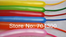 pa mischen Rabatt Tierbindung, die Mischfarben-Latex-Torsion sortierte Partei-lange Ballone DIY herstellt