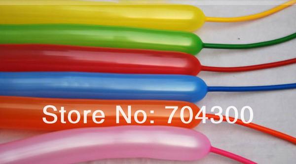 Hayvan Yapma Karışık Renkler Lateks Büküm Çeşitli Parti Uzun Balonlar DIY