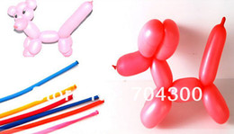 Discount ties sets New Arrive Long Balloons DIY Animal Tying Making Mixed Colors Latex Twist Assorted Party