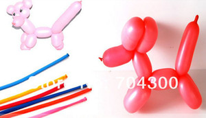 Wholesale make balloons for sale - Group buy New Arrive Long Balloons DIY Animal Tying Making Mixed Colors Latex Twist Assorted Party