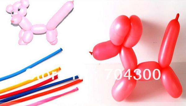 Nuevo Llega Globos largos DIY Animal Atar hacer colores mezclados Latex Twist Assorted Party