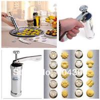 biscuit press maker venda por atacado-Brand New Cozinha Conjunto de Ferramentas Cookie Press Machine Biscuit Maker Bolo Que Faz Decoração Gun