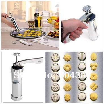 Nueva cocina Juego de herramientas de cocina Máquina de prensado de galletas Máquina para hacer galletas Máquina para hacer pasteles que adorna la pistola