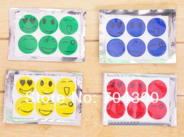 Wholesale Mosquito Stickers - Smiling Face Best Mosquito Natural Repellent Patch Insect bug repellent sticker Camping