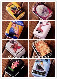 Wholesale Tin Box Wholesale Europe - HOT SELL Vintage European memory series quality iron case storage case storage tin candy tin box