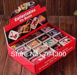 Wholesale vintage tin storage box - Storage tin candy tin box vintage European memory series quality iron case storage case