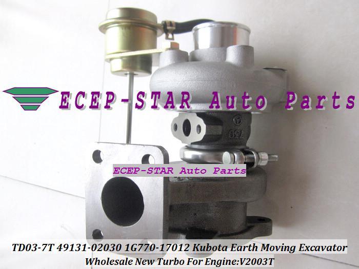 TD03 TD03-7T 49131-02030 1G770-17012 49131 02030 4913102030 turbo turbocompressore 1G77017012 turbo escavatore movimento terra Kubota V2003T