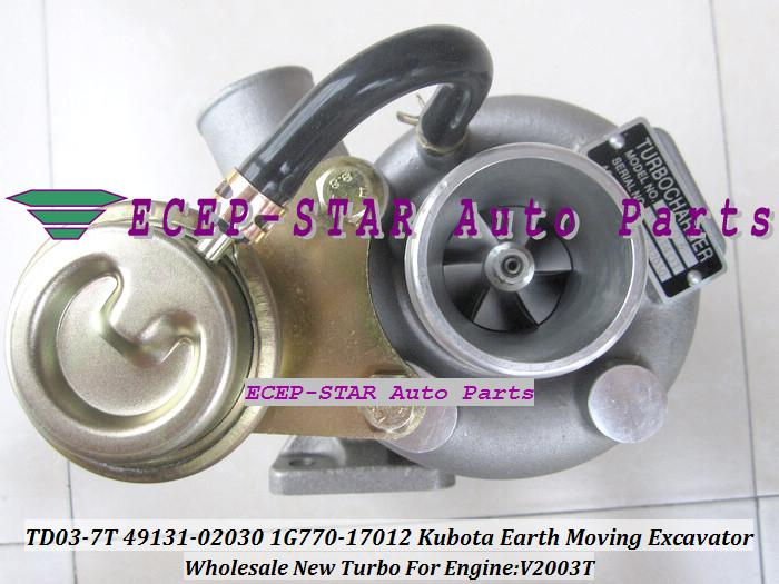 TD03-7T Turbo Charger For Kubota Earth Moving Excavator 49131-02030 //1G770-17012