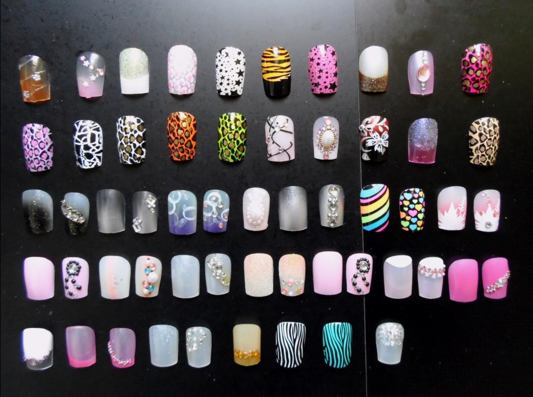 3d Design False Artificial Press On Nails 24 Tips/Box 20boxesKiss ...