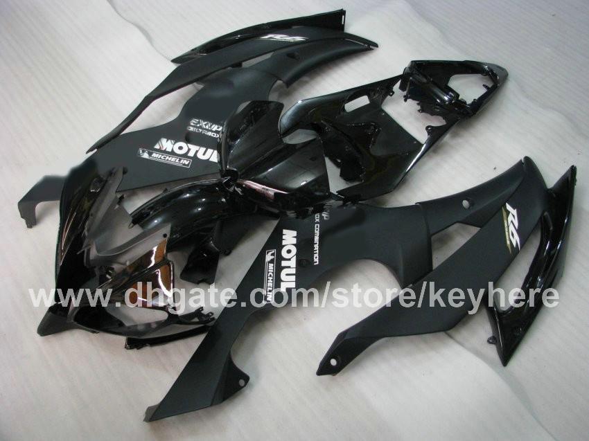 Personaliseer ABS Plastic Fairing Kit voor YZF-R6 2009 2009 YZFR6 08 09 YZF R6 08 09 Backings Body Kit G1B Platte glanzende zwarte motoronderdelen