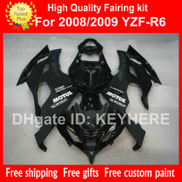motorcycle r6 body kit 2020 - Customize ABS Plastic fairing kit for YZF-R6 2008 2009 YZFR6 08 09 YZF R6 08 09 fairings body kit G1b flat glossy black