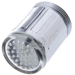 Лучшая цена # новая мода 3-Цвет воды Glow нажмите кран светодиодные свет датчика температуры