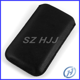 Wholesale Skin Galaxy Duos - Leather Case Skin Cover for Samsung Galaxy Grand Duos i9082 Pull Tab Black Sleeve Pouch