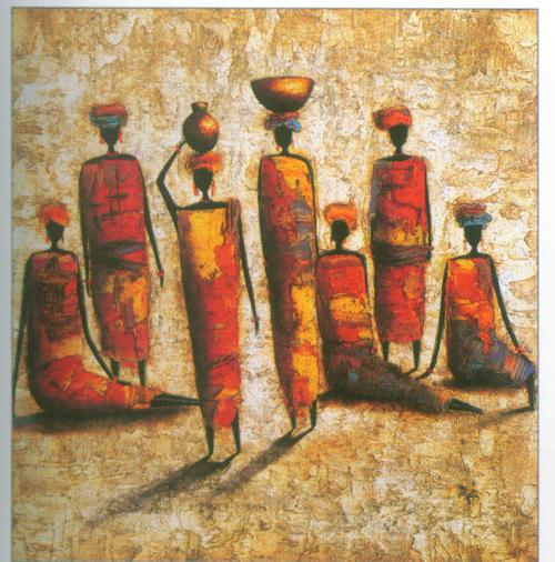 Restaurant Wall Decor 2017 restaurant wall decor impression africa people oil paints