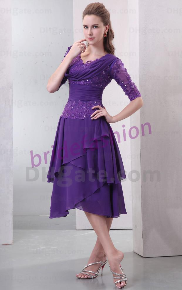 So Attractive!!2013 New Fashion V-neck A-line Sequin Beads Ruffle Handmade Flower Custom Made Chiffon Mother of the bride Dresses