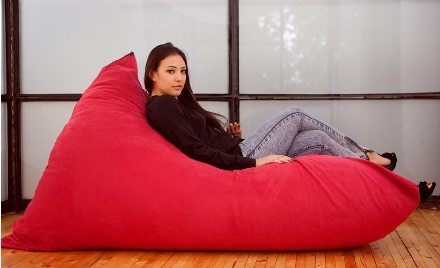 Fashion Pivot Bean Bag Chair Modern Red Back Support
