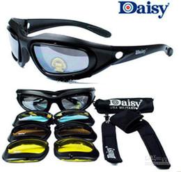 rückspiegelgläser Rabatt Daisy C5 Nicht C3 oder C4 Desert Storm Sonnenbrille 4 Linsen Brille Tactical Eyewear für Airsoft Radfahren Reiten UV400 Brillen Brillen