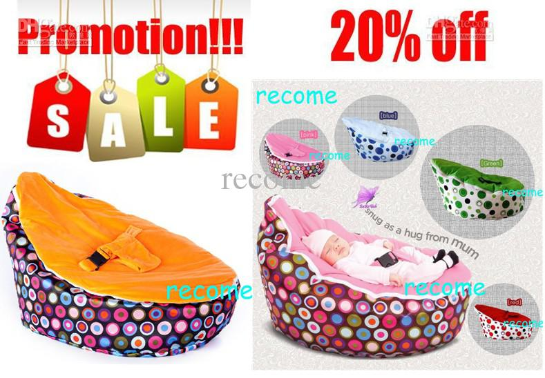 Free Shipping Sprinkles Cream Snuggle Pod Baby Seatnew Born Kids Portable Bean Bag Chair